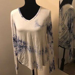 AEROPOSTALE SERIOUSLY SOFT Blue Tie Dye Top